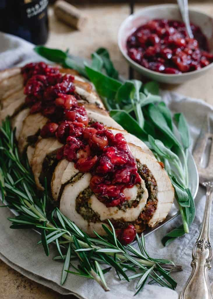 Cherry Chestnut Turkey Roulade