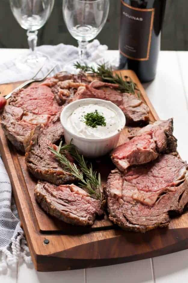 Garlic Rosemary Prime Rib Roast