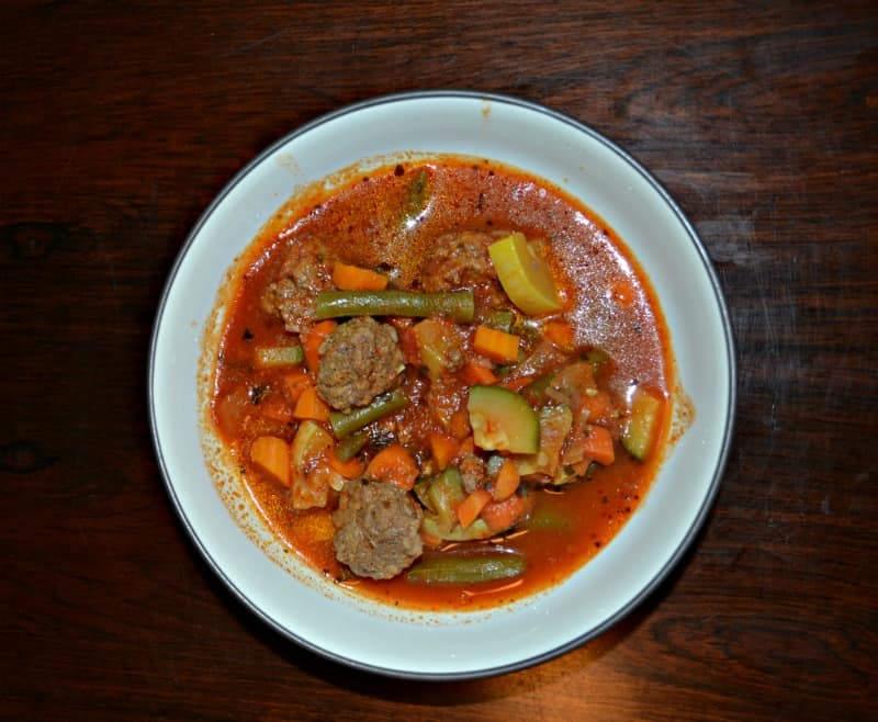 Vegetable Soup with Meatballs is a warm and comforting soup.