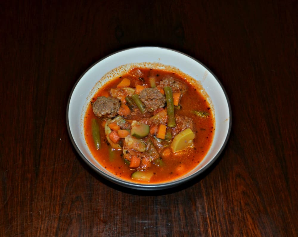 Vegetable Soup with Meatballs is one of my favorite winter soups!