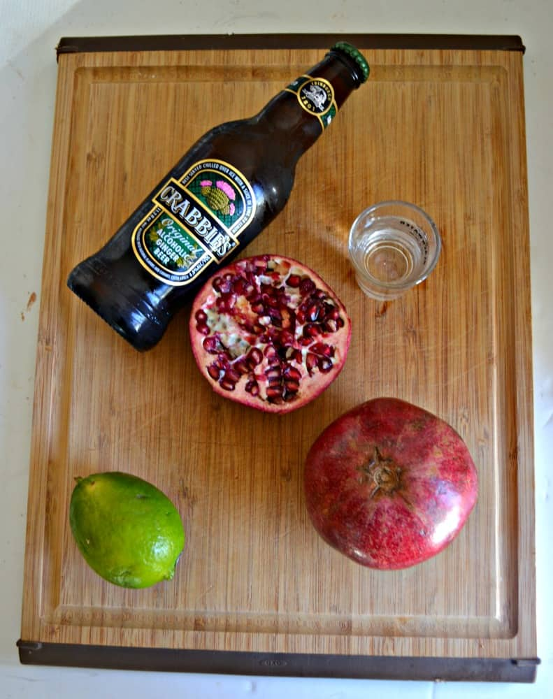 Everything you need to make a Pomegranate Moscow Mule