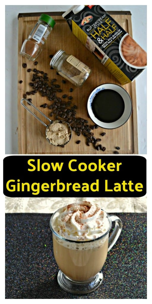 Everything you need to make Slow Cooker Gingerbread Lattes!
