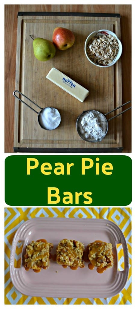 Everything you need to make Pear Pie Bars