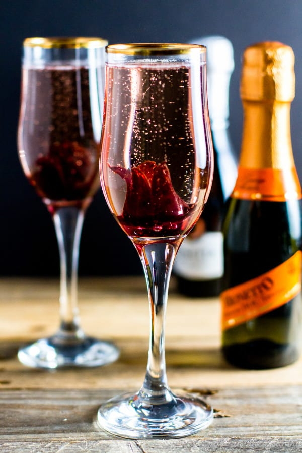 Bubbly Hibiscus Cocktail