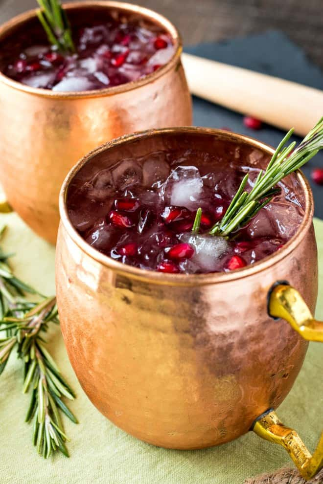 Po,egranate Rosemary Moscow Mule