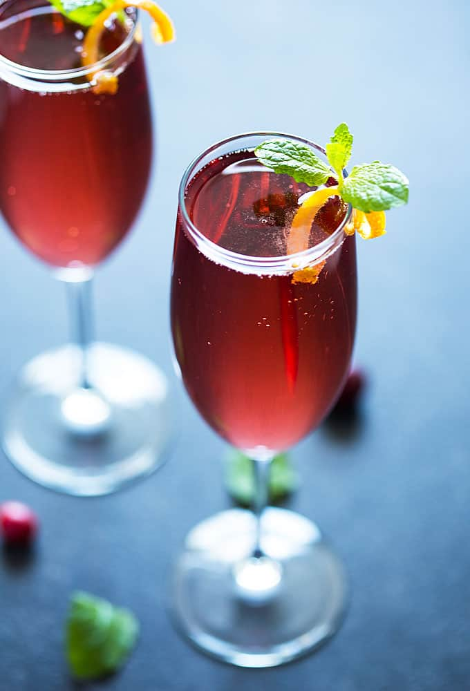Champagne Cranberry Cocktail