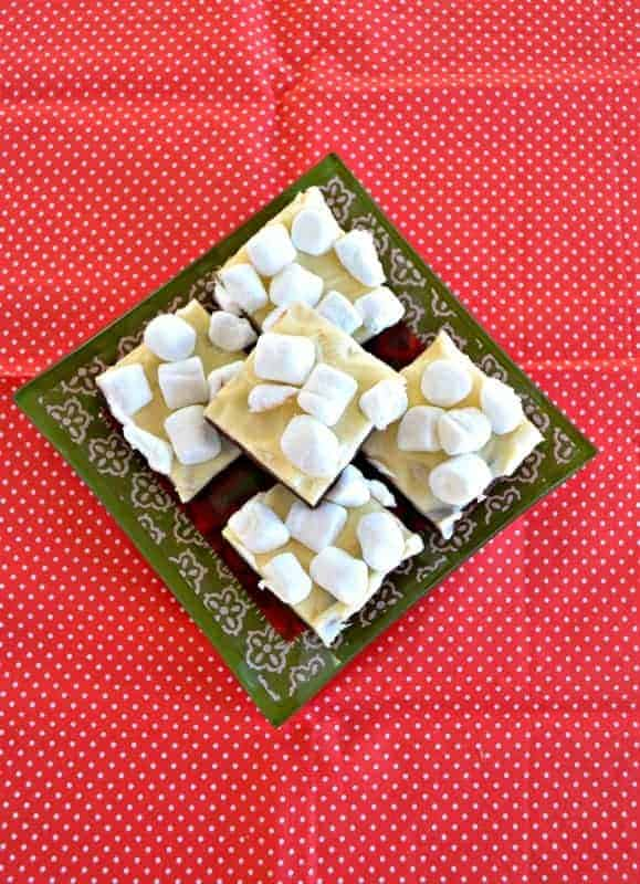 Hot Cocoa Fudge is a combination of your favorite cold weather beverage and a dessert!