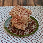 Candy Cane Rice Krispies Treats