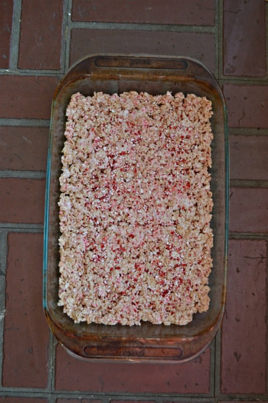 Make a pan of Candy Cane Rice Krispies Treats
