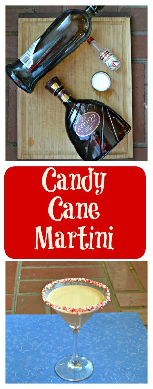 Everything you need to make a Candy Cane Martini!