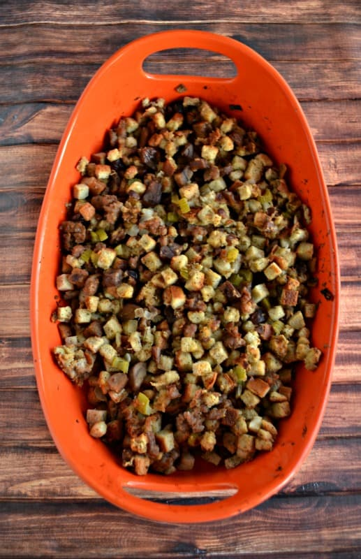 Love this flavorful Stuffing with Sausage and Chestnuts