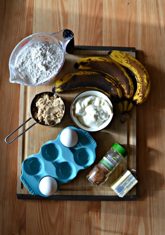 Everything you need to make Eggnog Banana Bread