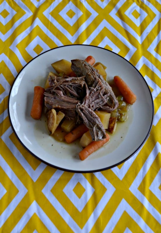 Make a delicious Slow Cooker Mississippi Roast with vegetables