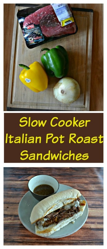 Slow Cooker Italian Pot Roast Sandwiches are a delicious and easy to make dinner!