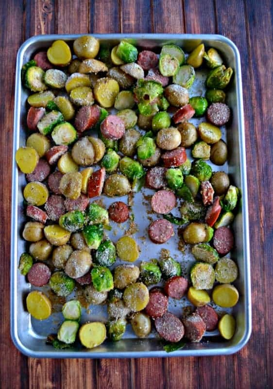 Kielbasa and Potato Sheet Pan Supper