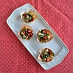 Chicken and Strawberry Caprese Wonton Cups