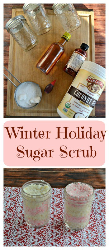 Everything you need to make Winter Holiday Sugar Scrub