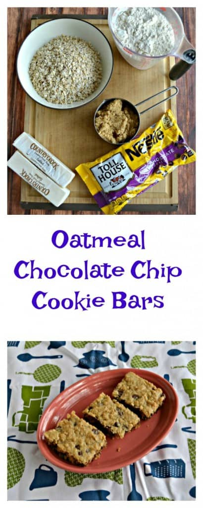Everything you need to make the BEST Oatmeal Chocolate Chip Cookie Bars