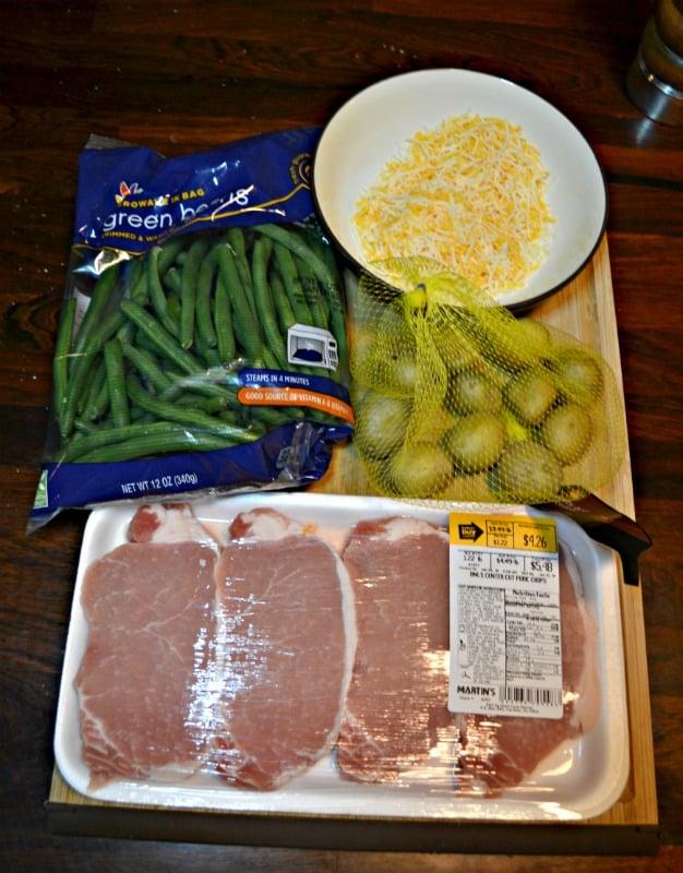 Everything you need to make Sheet Pan Parmesan Pork Chops