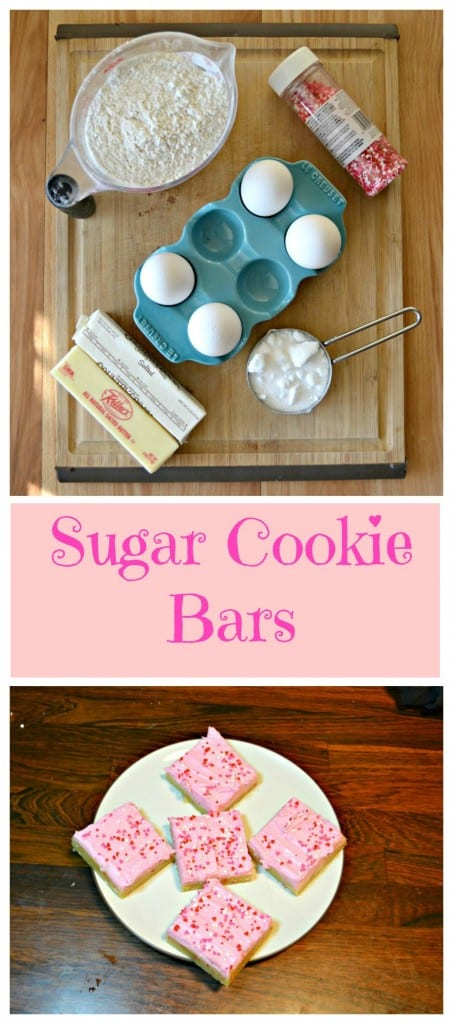 Everything you need to make soft and chewy Frosted Sugar Cookie Bars
