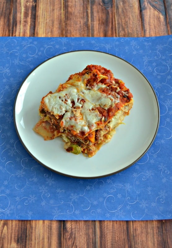Grab a fork and dig into this comforting Beef and Winter Vegetable Lasagnaa