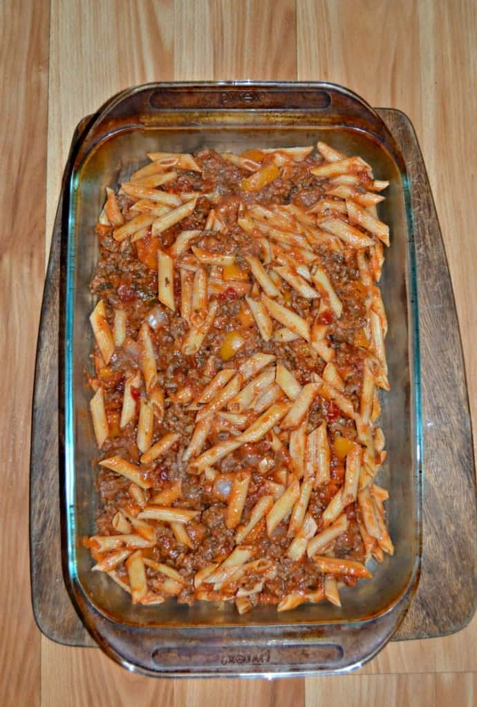 If you like Baked Ziti you are going to love this version with Meat Sauce!