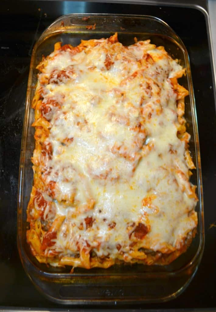 I can't get enough of this delicious Baked Ziti with Meat Sauce!