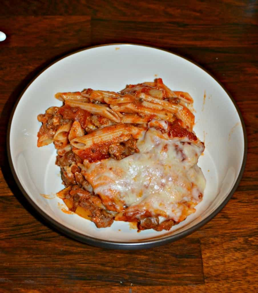 Looking for a hearty and delicious pasta dish? Try this tasty Baked Ziti with Meat Sauce!