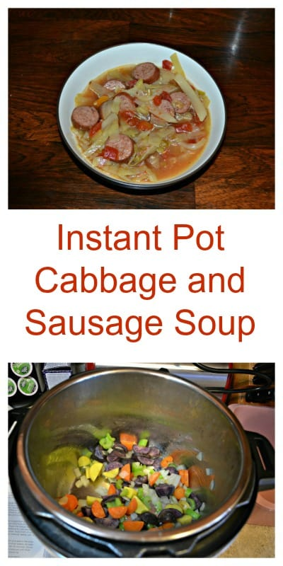Instant Pot Cabbage and Sausage Soup