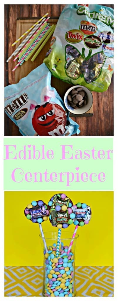 It only takes a few minutes and a handful of ingredients to make this fun Edible Easter Centerpiece!