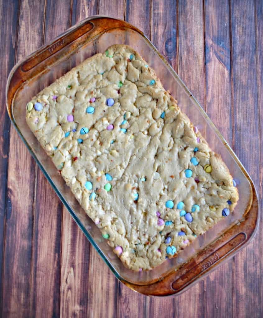 M&M Blondies are perfect for Easter!