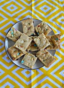 Easter M&M Blondies