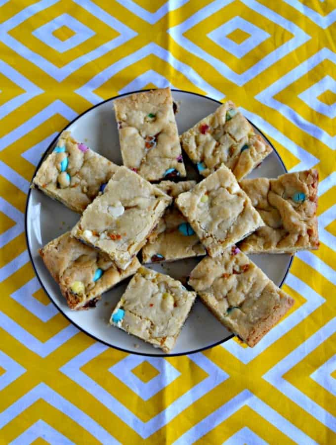 Grab one of these Pastel M&M Blondies for Easter