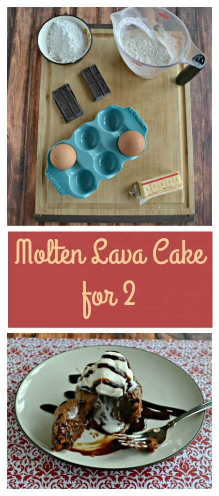 Everything you need to make Molten Chocolate Lava Cake for 2!