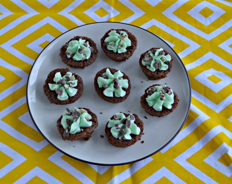 St. Patrick's Day Brownies with Buttercream Frosting
