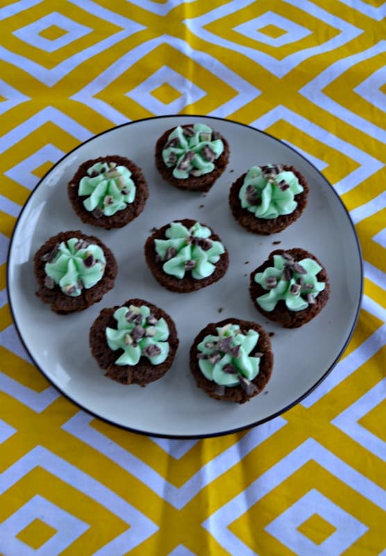 These ini brownies are perfect for St. Patrick's Day