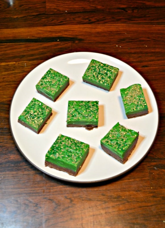 It's easy to make this Double Chocolate St. Patrick's Day Fudge