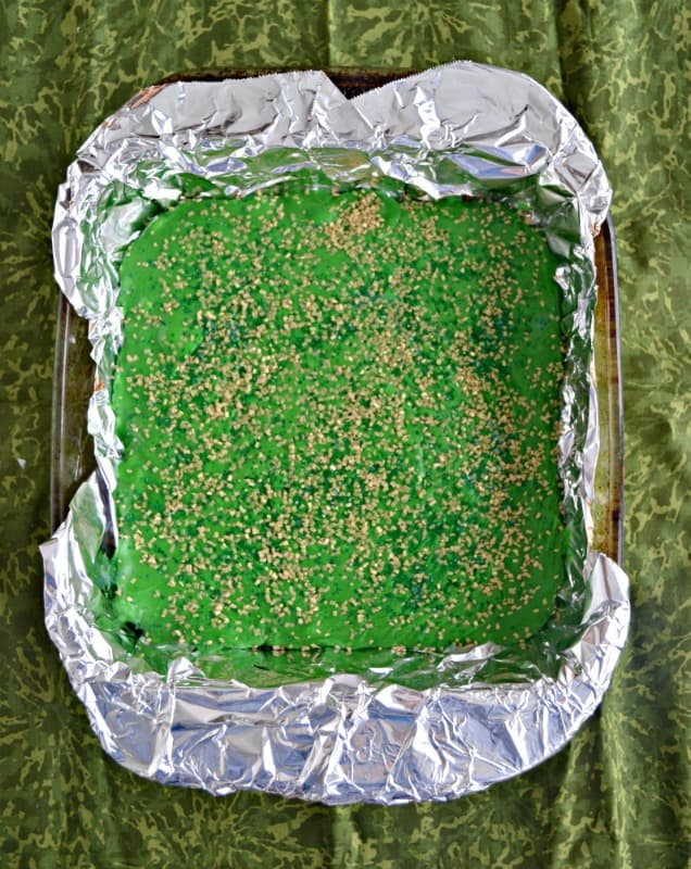 This delicious Double Chocolate Fudge is perfect for St. Patrick's Day!