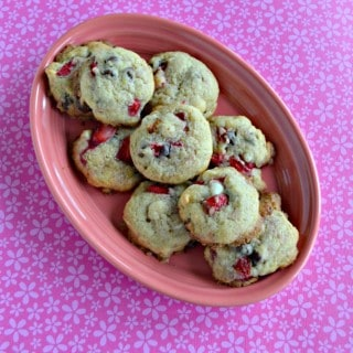 You'll love the combination of flavors in these Strawberry Chocolate Chip Cookies