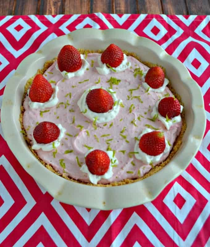 Looking for a fresh and delicious No Bake dessert? Try my Strawberry Lime Mousse Pie!
