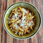 Penne with Bacon, Onion, and Balsamic Vinegar