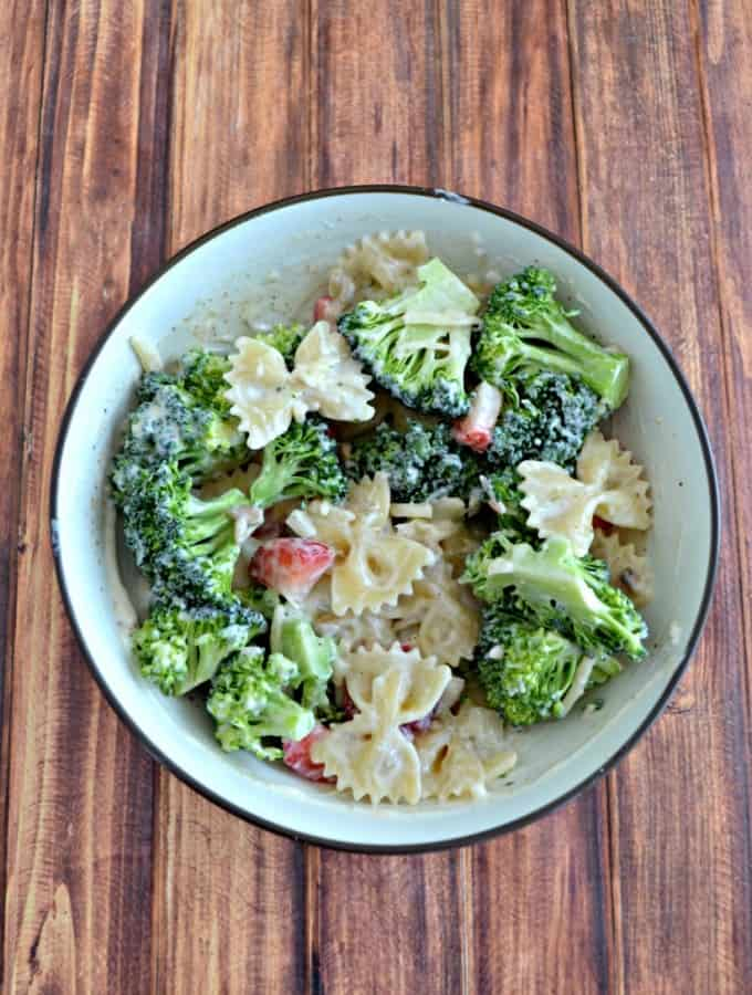 Make a delicious pasta salad filled with broccoli!