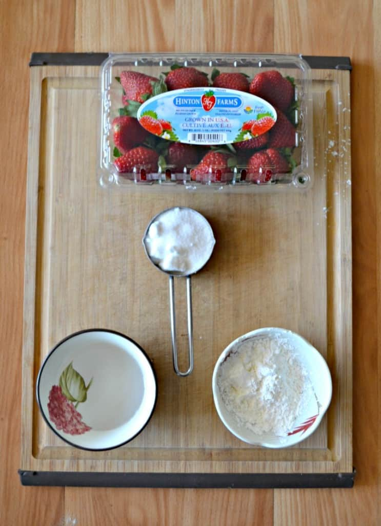 Everything you need to make Strawberry Sauce to freeze and use all year long!
