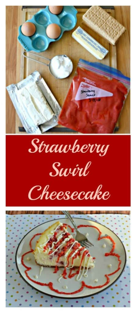 Making a Strawberry Swirl Cheesecake is easier then you think!