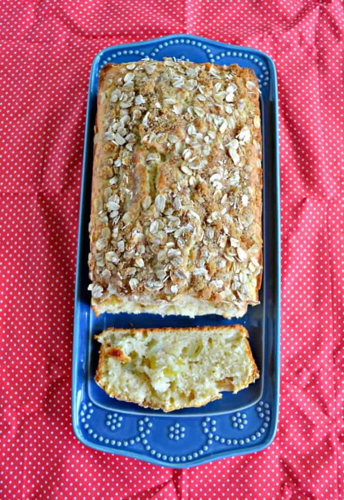 Grab a cup of coffee and enjoy a slice of this Apple Cinnamon Bread!
