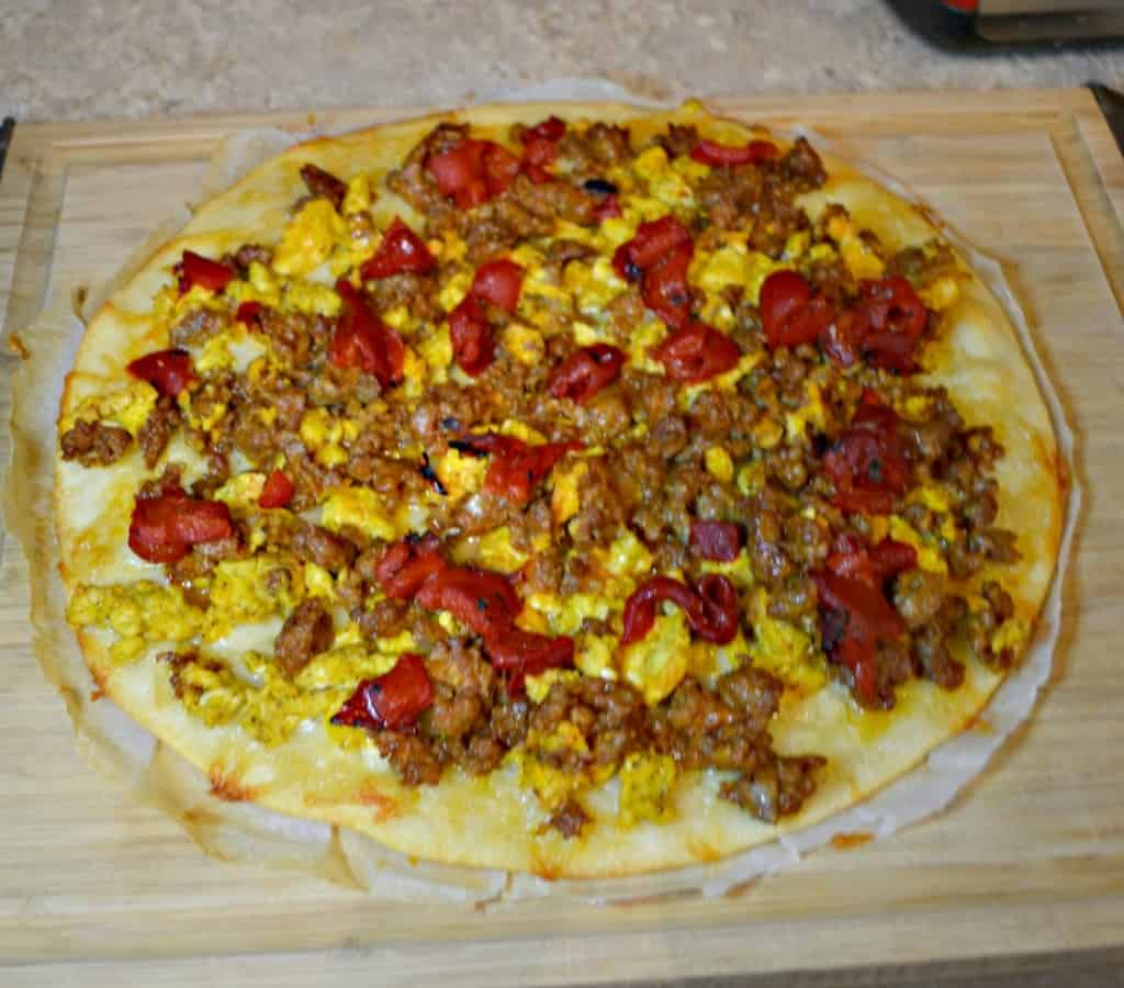 Looking for a breakfast the whole family will enjoy? Try my loaded Breakfast Pizza!
