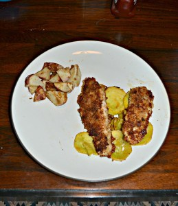 Crispy Garlic Parmesan Chicken with Squash
