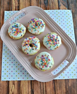 Kids and adults will love these colorful and tasty Baked Funfetti Donuts with Vanilla Glaze