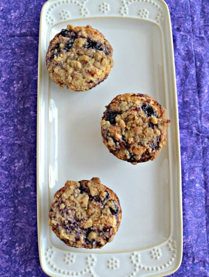 Looking for a delicious breakfast? Try my Meyer Lemon and Blueberry Swirl Muffins!