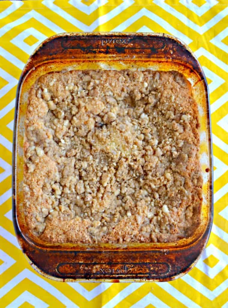 Looking for a fun twist on traditional coffee cake? Try this bright and fresh Meyer Lemon Coffee Cake!